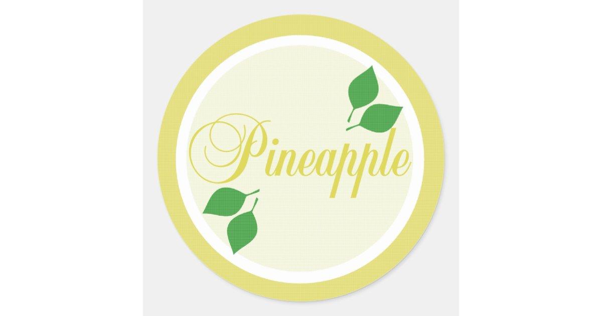 pineapple fruit label sticker. Black Bedroom Furniture Sets. Home Design Ideas