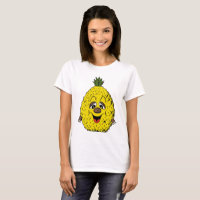 Pineapple Funny Face Cartoon Women's, ZSSG T-Shirt