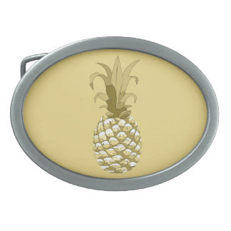 Pineapple Gold ID239 Oval Belt Buckle