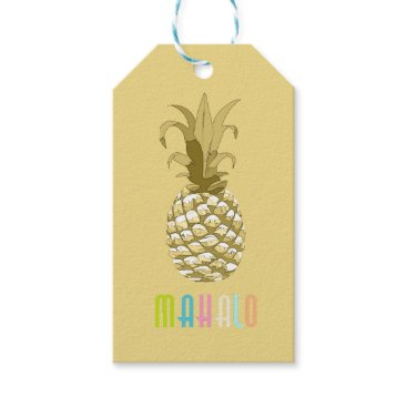 arrayforcards Pineapple Gold Mahalo ID239 Gift Tags