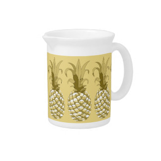 Pineapple Gold Row ID239 Drink Pitcher