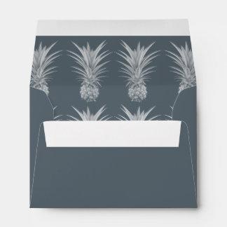 Pineapple Gray Specialty Return Address Envelope