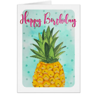 Pineapple Happy Birthday | Greeting Card