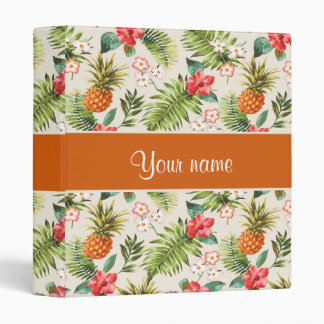 Pineapple Hibiscus and Palm Fronds Binder