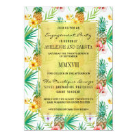 Pineapple & Hibiscus Destination Engagement Party Card