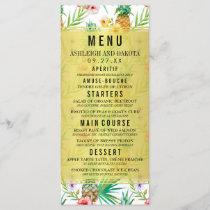 Pineapple & Hibiscus Destination Wedding Menu