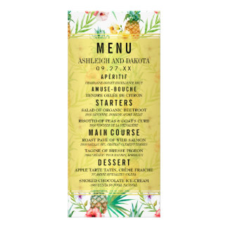 Pineapple & Hibiscus Destination Wedding Menu
