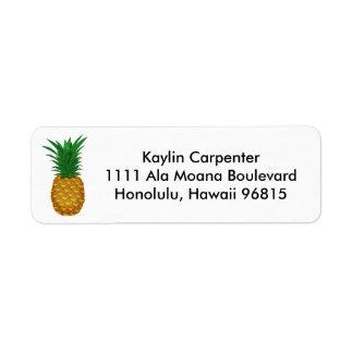 Pineapple Hospitality Return Address Label