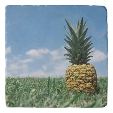 Beach Themed Pineapple in a Field Trivet