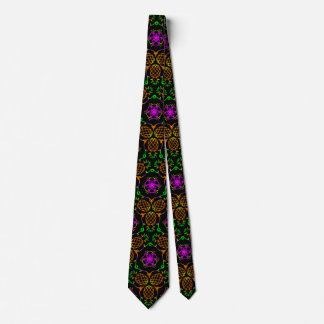 Pineapple in Colorful Tropical Pattern Personalize Neck Tie