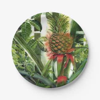 Pineapple in the Jungle 7 Inch Paper Plate