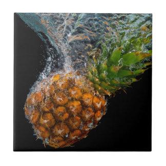 Pineapple in Water Ceramic Tile
