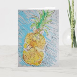 Pineapple Invitation/Greeting Card