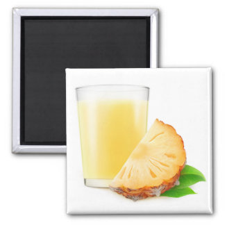 Pineapple juice 2 inch square magnet