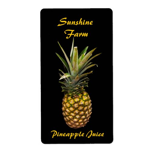 pineapple juice labels