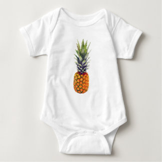 Pineapple Low-Poly Triangulated Baby Bodysuit