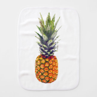 Pineapple Low-Poly Triangulated Baby Burp Cloth