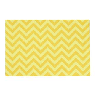 Pineapple, Lt Yellow Large Chevron ZigZag Pattern Placemat