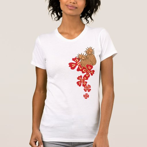 Pineapple Luau Gal's T-Shirts