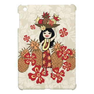 Pineapple Luau Hula Girl iPad Mini Cases
