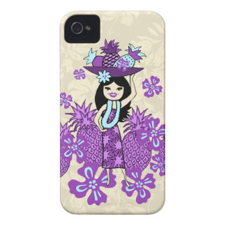 Pineapple Luau Hula Girl IPhone 4 Cases