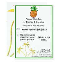 Pineapple Luau Rehearsel Dinner Invitation