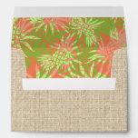 Pineapple Luau Tropical Invitations Envelope