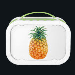 """Pineapple Lunch Box<br><div class=""""desc"""">An oversized photograph of a pineapple on a white background.  From the Fruits collection by Cartesian Bear,  exclusively at Zazzle.</div>"""