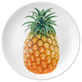 Pineapple Porcelain Plates