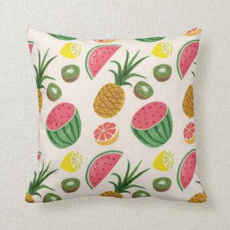 pineapple MELON Throw Pillows