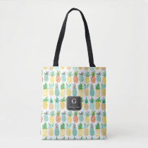 Pineapple Monogram Pattern | Tote bag