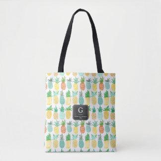Pineapple Monogram Pattern | Tote bag