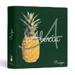 pineapple & monogram recipes binder
