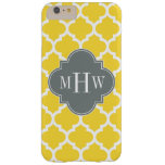 Pineapple Moroccan #5 Charcoal 3 Initial Monogram Barely There iPhone 6 Plus Case