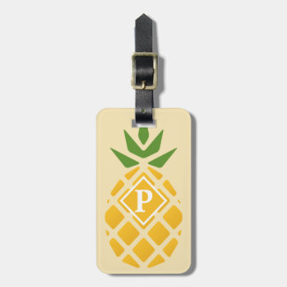 Pineapple Motif w/ ID on Back Luggage Tag