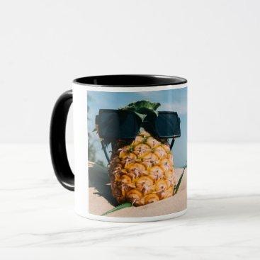 Beach Themed Pineapple Mug