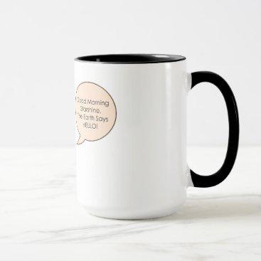 Coffee Themed Pineapple Mug
