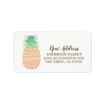 Pineapple New Address Moving Return Address Label