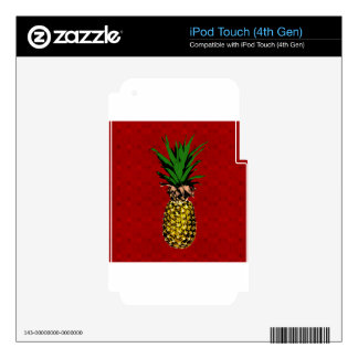 Pineapple Newsprint Image Decals For iPod Touch 4G