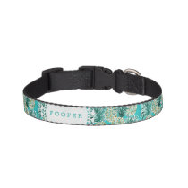 PINEAPPLE O'CLOCK Tropical Whimsical Watercolor Pet Collar