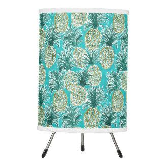 PINEAPPLE O'CLOCK Tropical Whimsical Watercolor Tripod Lamp