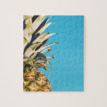 """Pineapple on Blue Jigsaw Puzzle<br><div class=""""desc"""">Pineapple on blue background. Perfect gift for those looking for something sharp and unique.</div>"""