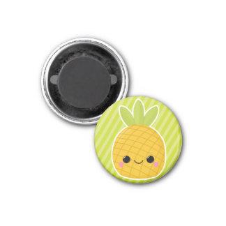 Pineapple on Green Stripes Magnet
