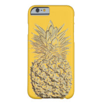 Pineapple on Yellow Gold Barely There iPhone 6 Case