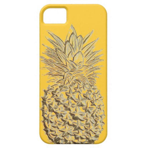 Pineapple on Yellow Gold iPhone SE/5/5s Case