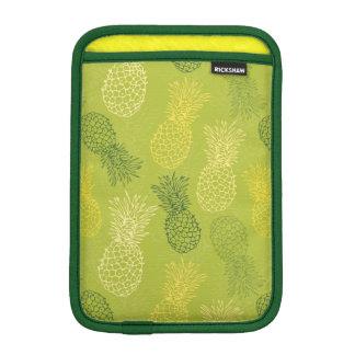 Pineapple Outline Pattern on Green iPad Mini Sleeve