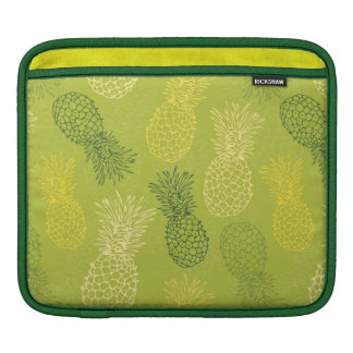 Pineapple Outline Pattern on Green Sleeve For iPads