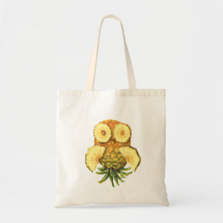 Pineapple owl tote bag