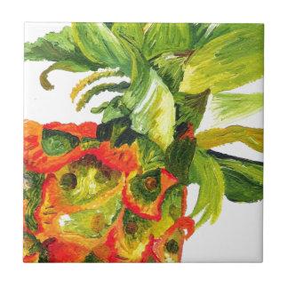Pineapple Painting (K.Turnbull Art) Ceramic Tile
