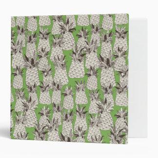 pineapple palm green 3 ring binder